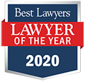 Lawyer of the year 2020 logo.